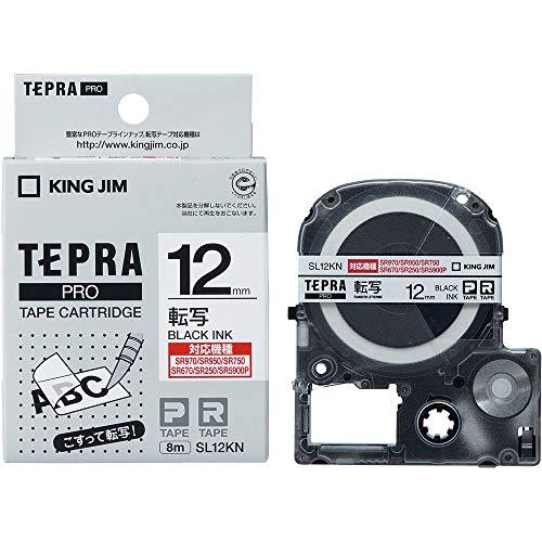 キングジム テプラ PROテープ 転写 12mm 白ラベル(黒文字) 1個