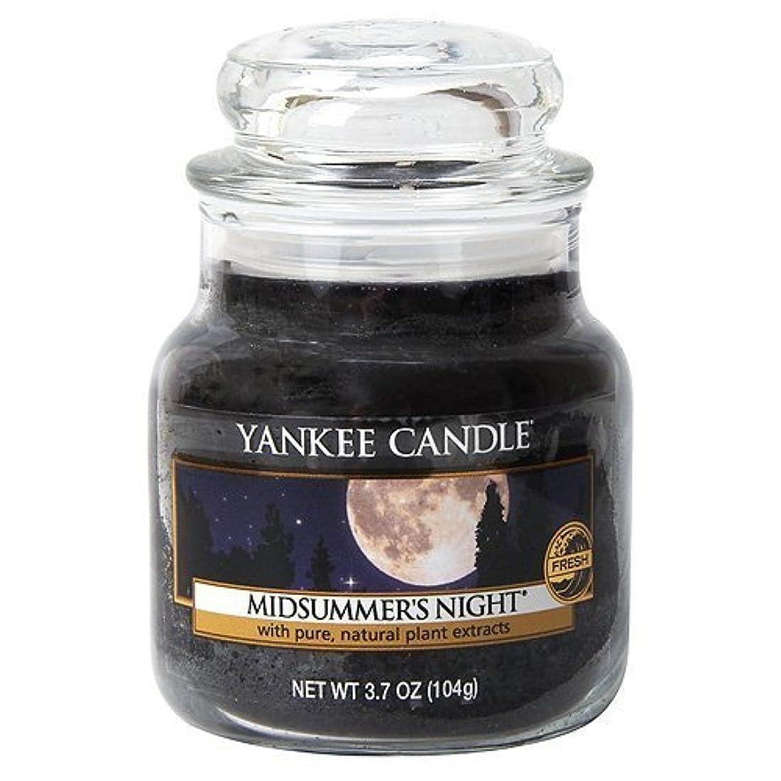フロンティア増強邪悪なYankee Candle Midsummer's Night Small Jar Candle, Fresh Scent by Yankee Candle [並行輸入品]