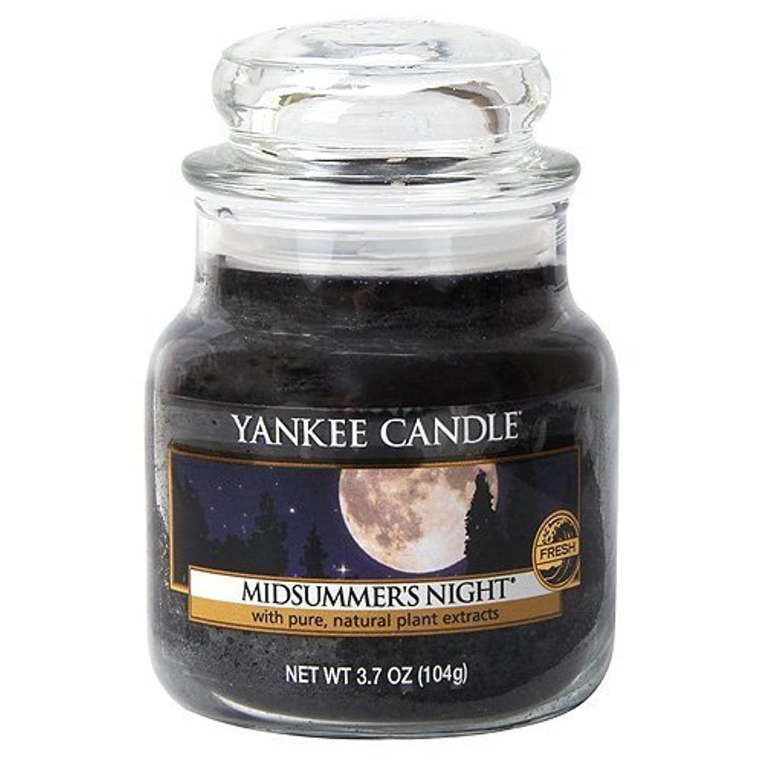 鉛筆設計図ドアミラーYankee Candle Midsummer's Night Small Jar Candle, Fresh Scent by Yankee Candle [並行輸入品]