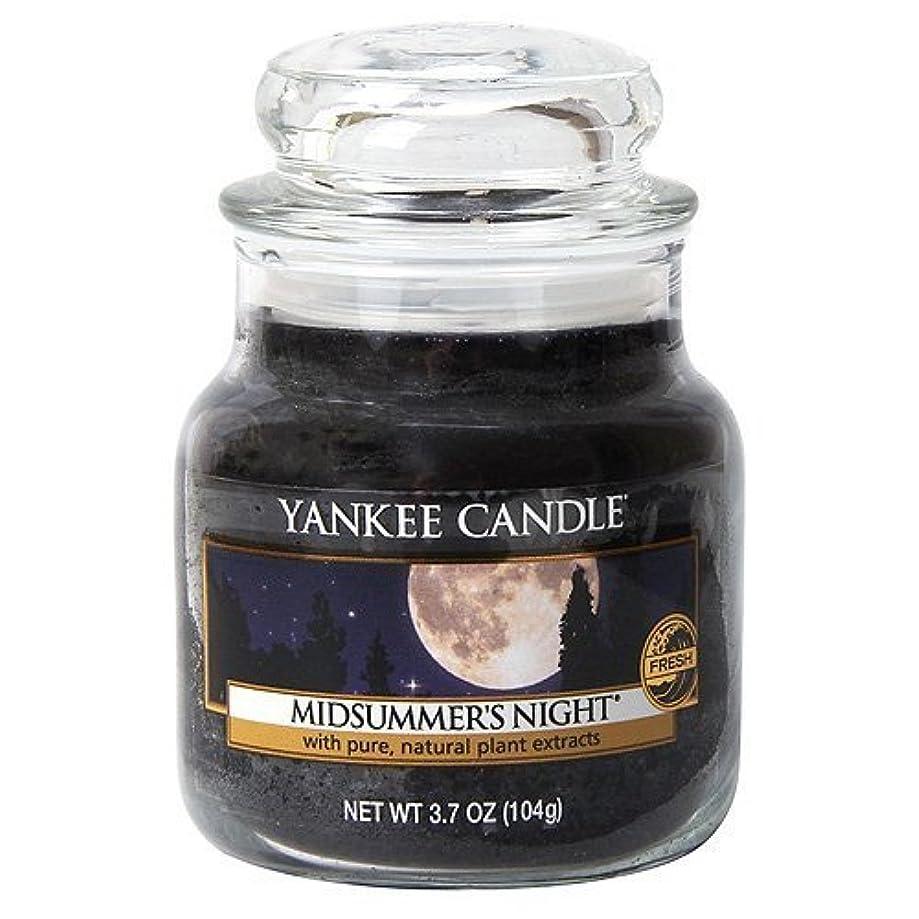 爪ビザ開発するYankee Candle Midsummer's Night Small Jar Candle, Fresh Scent by Yankee Candle [並行輸入品]