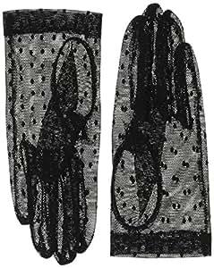 東和コーポレーション 冠婚葬祭用手袋 2wayフォーマルグローブMLサイズ P-005 インナー手袋付でネイルが隠せる レース手袋/ブラック、インナー手袋/ベージュ