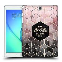 オフィシャルElisabeth Fredriksson Believe 2 タイポグラフィ Samsung Galaxy Tab A 9.7 専用ハードバックケース