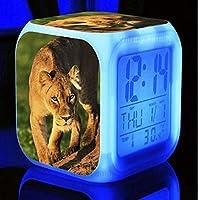 子供部屋のデスクトップの多機能の接触抜け目がない腕時計の時計のためのLEDのデジタル白熱目覚まし時計