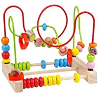 Linshop 子供フルーツビーズラウンドビーズの有益な知能幼児玩具ベビーブロック1~6歳
