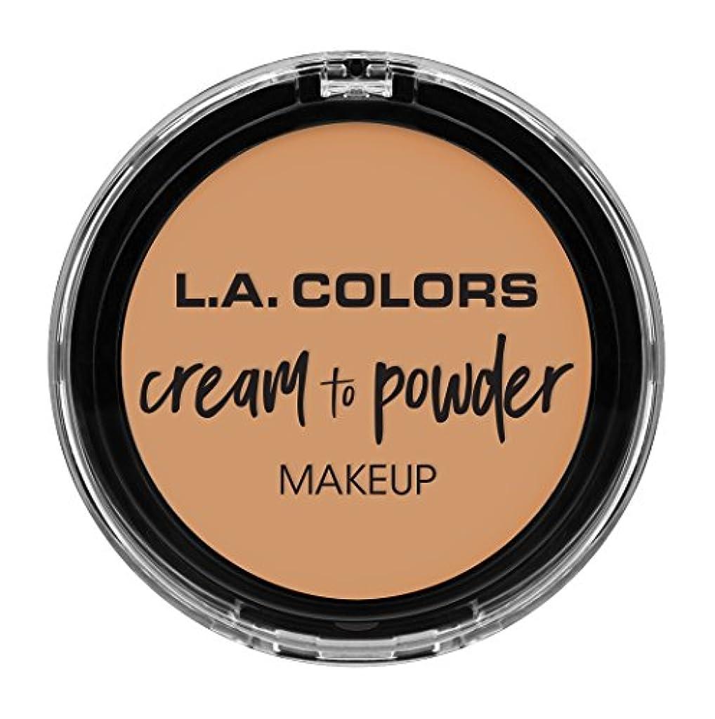 虚栄心外交官証言するL.A. COLORS Cream To Powder Foundation - Honey Beige (並行輸入品)