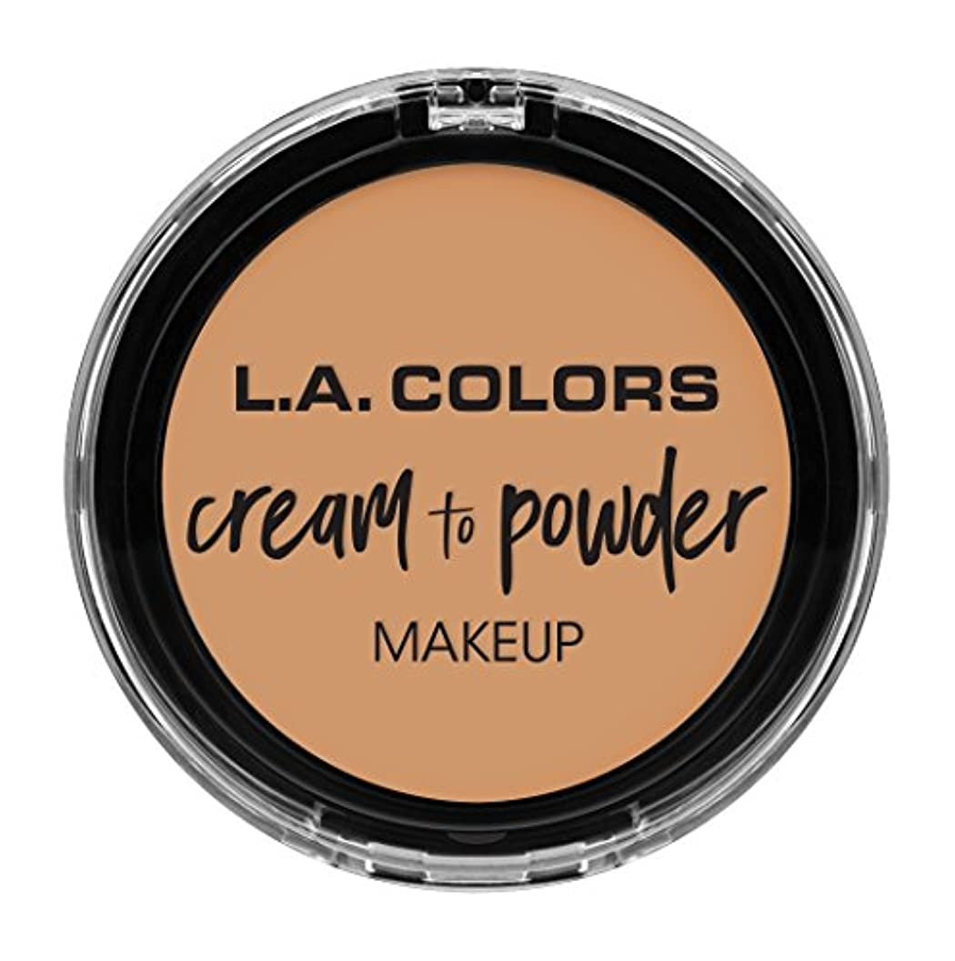 テザー乳製品熱L.A. COLORS Cream To Powder Foundation - Honey Beige (並行輸入品)