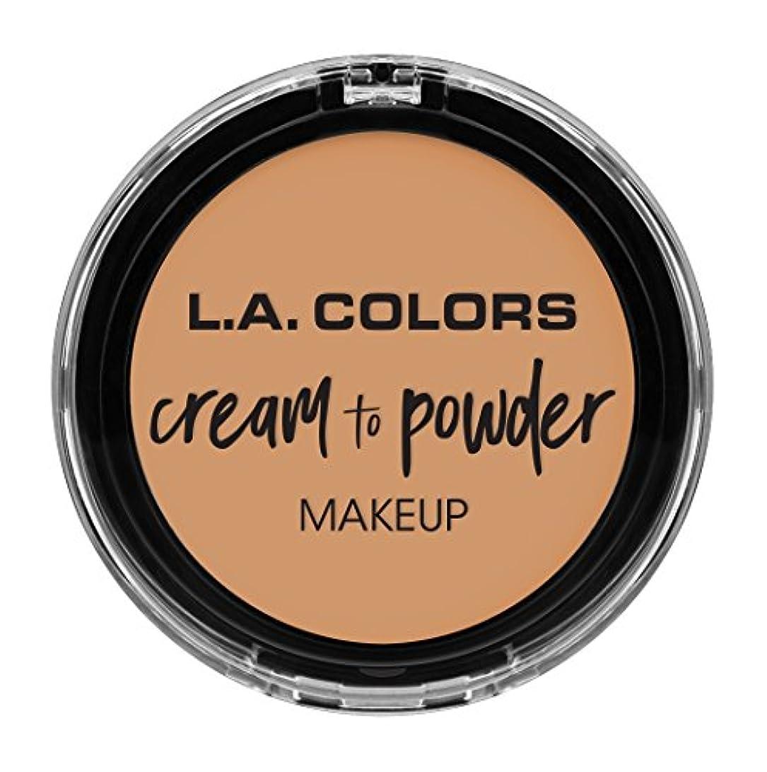 帰るアーティファクト反論L.A. COLORS Cream To Powder Foundation - Honey Beige (並行輸入品)