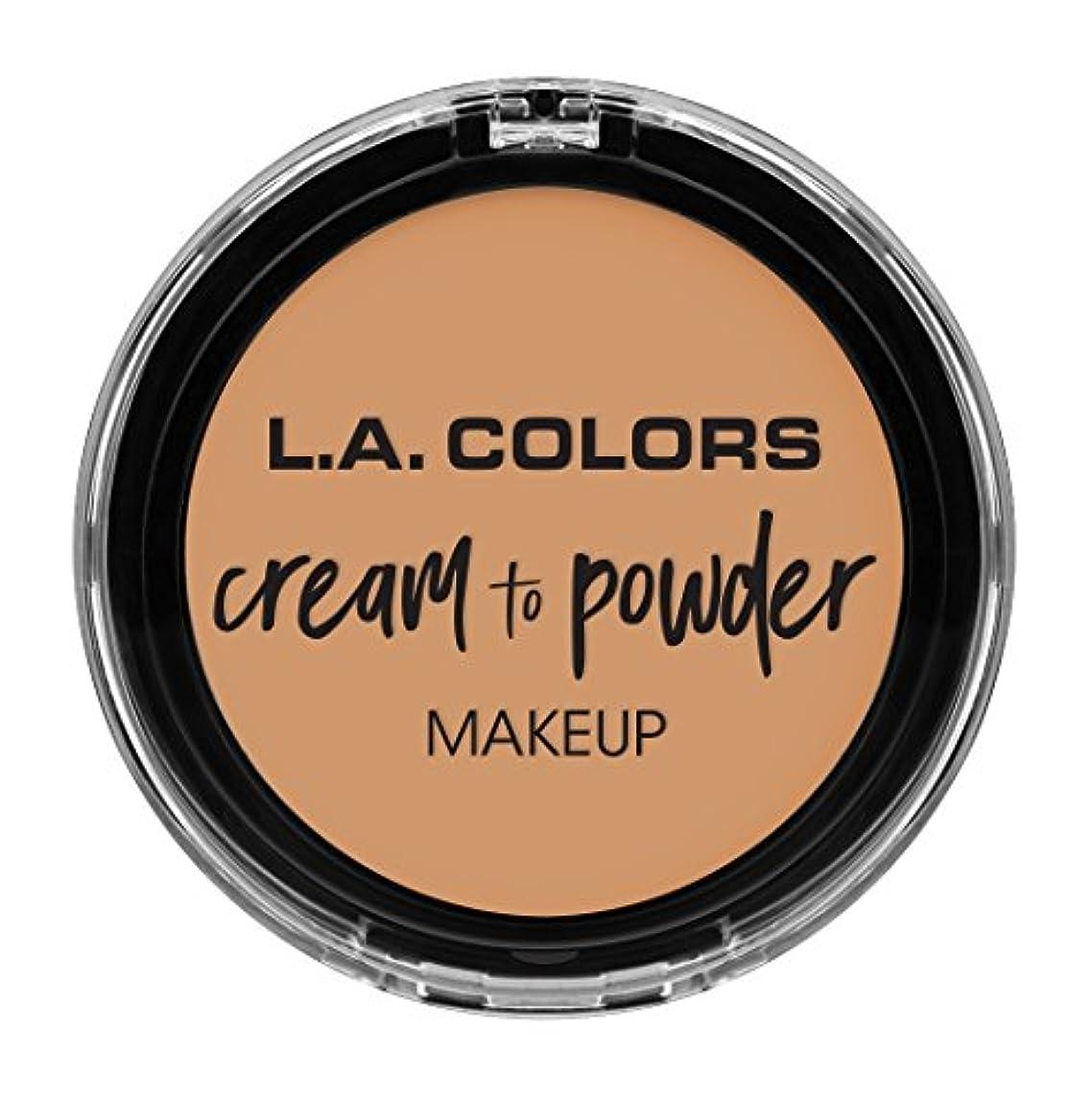修羅場バッグ内なるL.A. COLORS Cream To Powder Foundation - Honey Beige (並行輸入品)