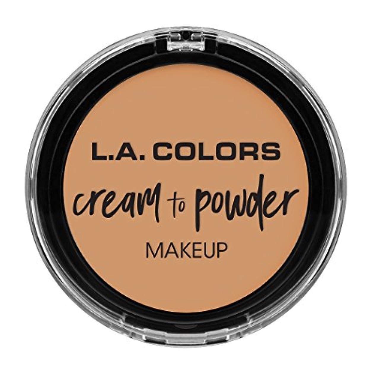 扱いやすい運河笑L.A. COLORS Cream To Powder Foundation - Honey Beige (並行輸入品)