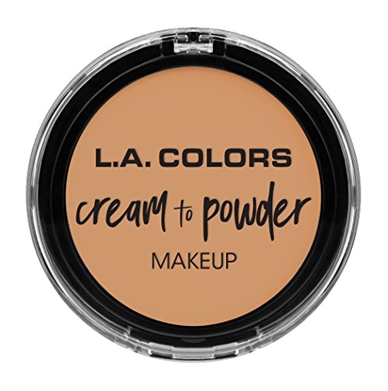 意味する牽引歯車L.A. COLORS Cream To Powder Foundation - Honey Beige (並行輸入品)