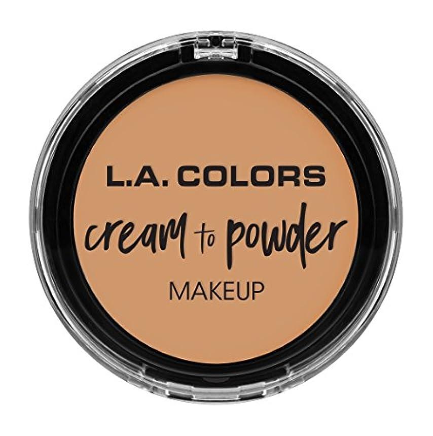 接続された独占自然L.A. COLORS Cream To Powder Foundation - Honey Beige (並行輸入品)