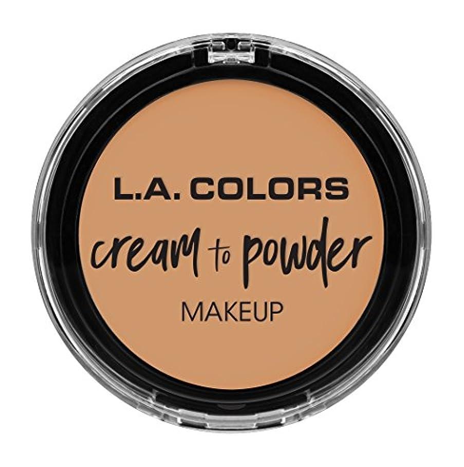 外交値動作L.A. COLORS Cream To Powder Foundation - Honey Beige (並行輸入品)