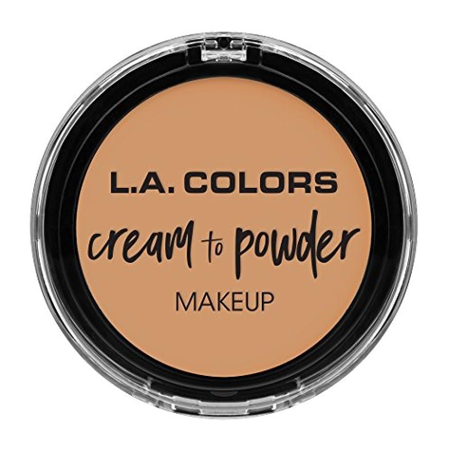 忠誠ヨーロッパ優先L.A. COLORS Cream To Powder Foundation - Honey Beige (並行輸入品)