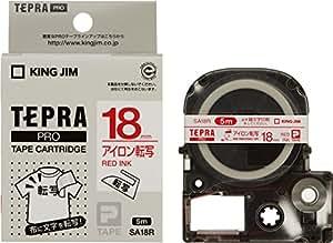 キングジム テープカートリッジ テプラPRO アイロン転写テープ 18mm SA18R 赤文字