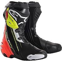 Alpinestars アルパインスターズ Supertech R スーパーテック ブーツ 黒赤蛍光イエロー/EU43 [並行輸入品]