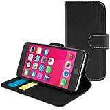 英国Snugg製 iPhone 6s用 PUレザー手帳型ケース 生涯補償付き(ブラック)