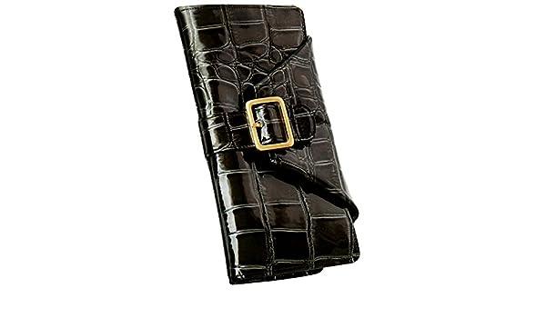 bb9c218872cc Amazon | [ヴィアドアン] VIA DOAN 長財布 レディース 牛革 エナメル型押し ラックスクロコシリーズ チャコールグレー  【No.321】 | 財布