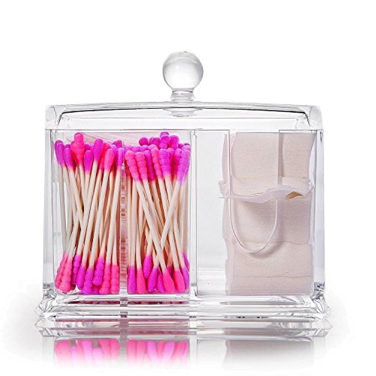 伝導きれいに時代Neolly 綿棒ケース コスメボックス 収納ケース 蓋付き 小物入れ 綿棒入れ 化粧品 多機能 収納ボックス メイクケース ジュエリーボックス プレゼント アクリル製 透明