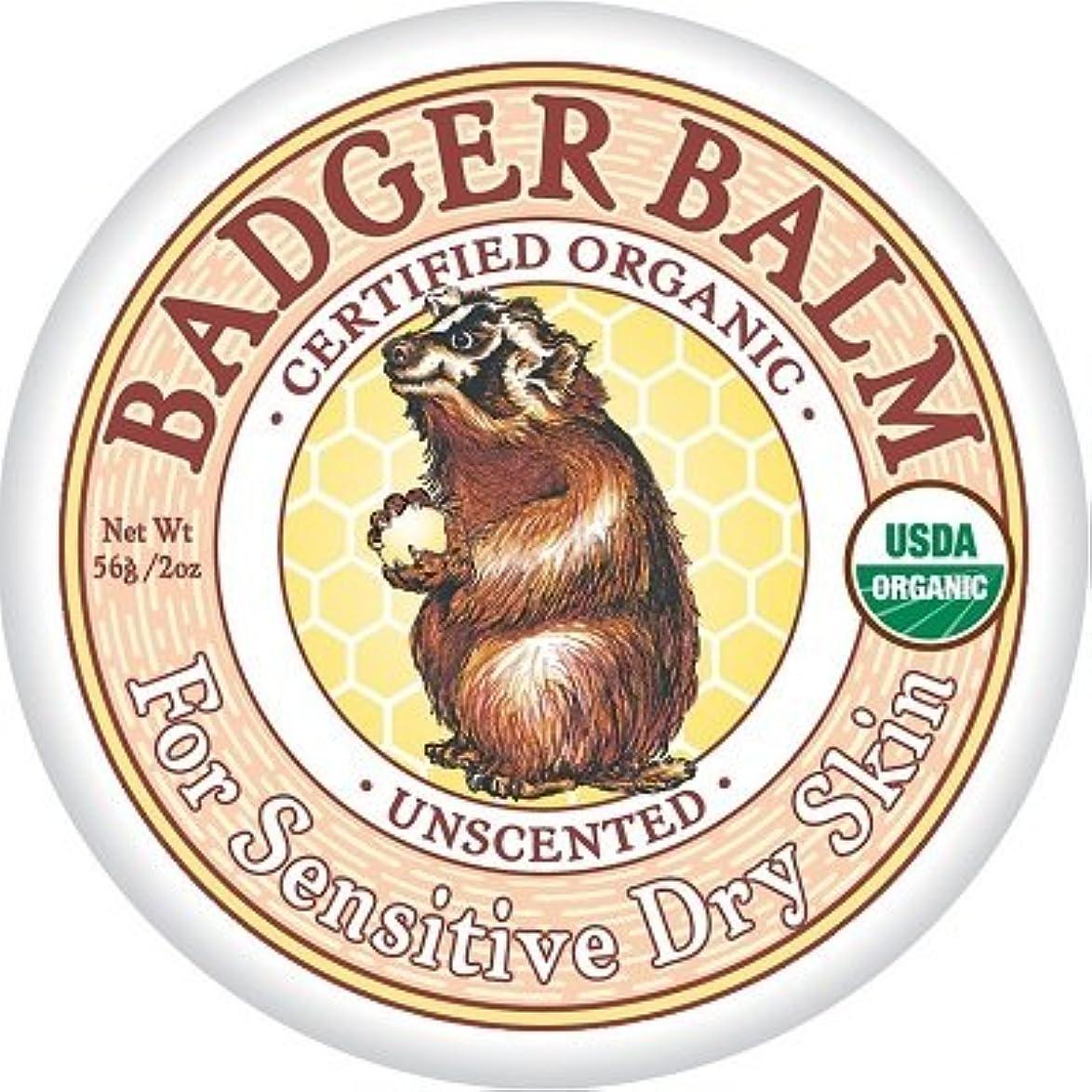 一方、静める宗教Badger バジャー ヒーリングバーム (無香料)56g【海外直送品】【並行輸入品】