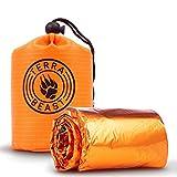 Emergency Sleeping Bag–For Shelterと保護that手にぴったりフィット–すべての天候のサバイバルBivyキャンピング、ハイキング、屋外–簡単に使用、再利用可能–Includes防水Carryバッグ