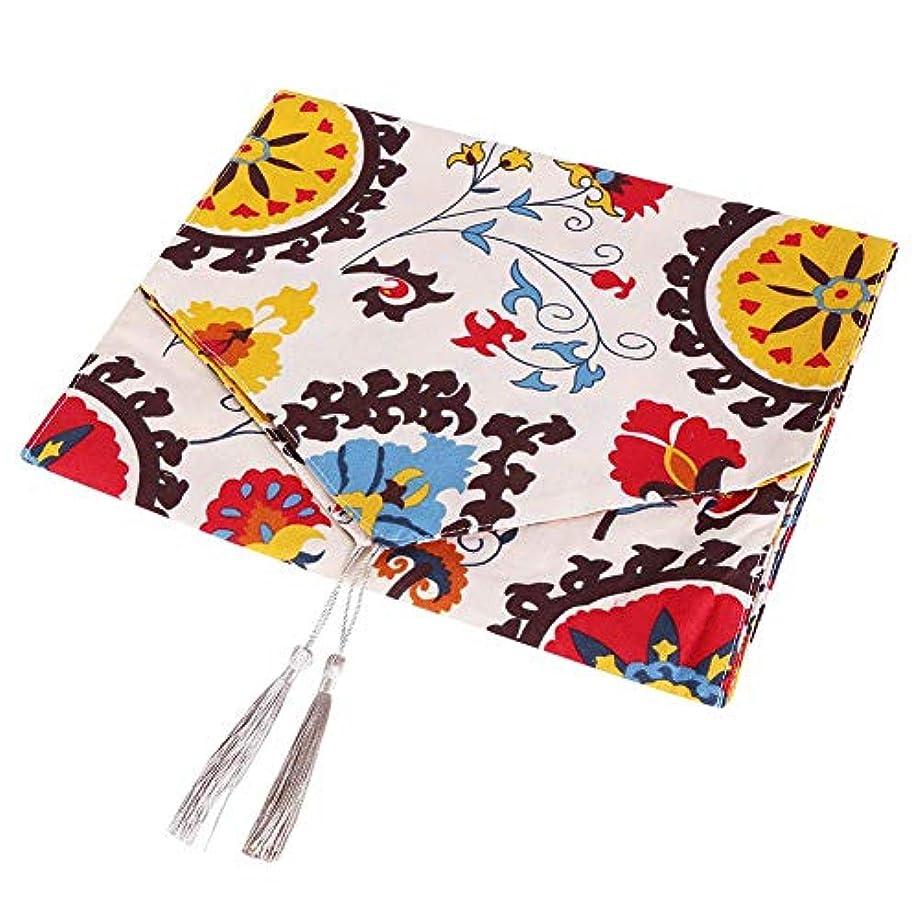 マイコン永遠にネイティブテーブルワイプマット、コットンリネンテーブルクロステーブルカバークリーンマットパッド、タッセルテーブル装飾付きテーブルクロス(#2)