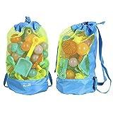 (フォクスン)FocuSun メッシュバッグ おもちゃ入れ袋  お砂場バッグ (ブルー) [並行輸入品]