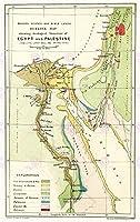 マップREPROアンティークジョンソンバイブルGeologyエジプトパレスチナLargeアートプリントlf895