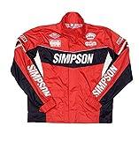 シンプソン(SIMPSON) バイク用レインスーツ レインジャケット セパレート レッド 4L SRS-6191
