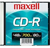 Maxell Cr-R 700 Rec'd Data Cd's-Single-Slim Case [オンデマンド(CD-R)]