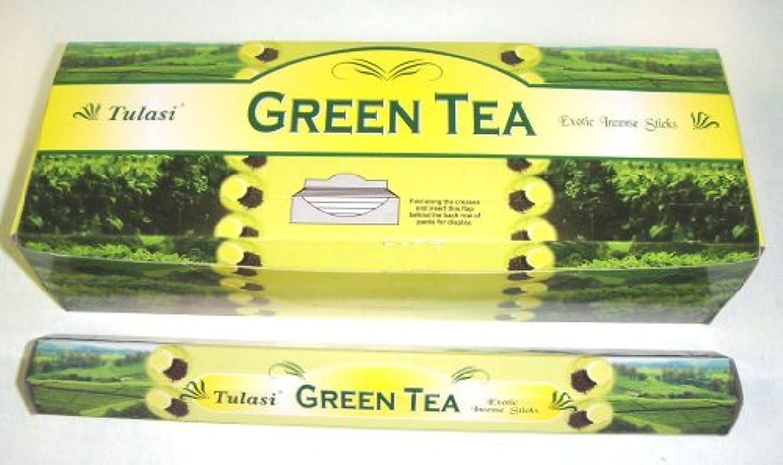 リダクターレジデンス原子炉Tulasi グリーンティー(GREEN TEA)香 スティック 6角(20本入り)×1箱