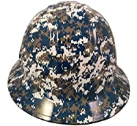 Texas America Safety Company Navy Digital Camo Full Brim Style Hydro Dipped Hard Hat by Texas America Safety Company