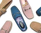 レディース 婦人靴 ビットローファー ヌバック 22.5~24.5cm bow0807 (24.5cm, ベージュ)