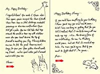 Quiplip Handwritten Yours Truly Birthday Cards 6-Pack (YT08096PCK) [並行輸入品]