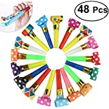 Nuolux Party Horns Noisemakers Blowouts - 48pcs New