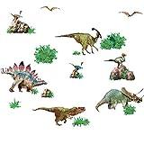 ルームメイト(RoomMates) ウォールステッカー マルチ 貼って剥がせる 恐竜 4枚 幅5cm×高さ4cm~幅10cm×高さ41cm 【Amazon.co.jp正規輸入取扱品】 RMK1882SCS