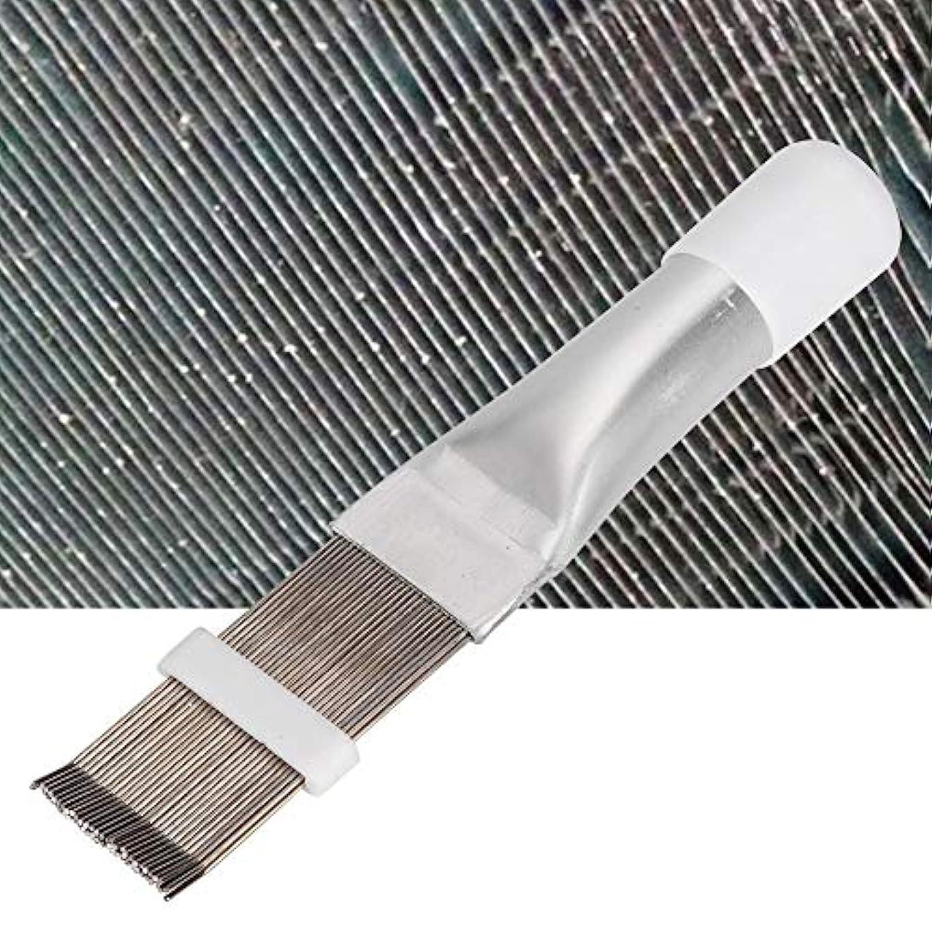 ヒョウマチュピチュ理論的フィンコーム エアコンコーム エアコンフィンクリーナー エアコンブラシ コンデンサーフィン 清掃 矯正 ストレートコンデンサに適用 ステンレス鋼製歯 耐腐食性 耐圧性