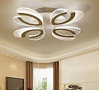 HAGDS ヨーロッパのシャンデリアクリスタルランプモダンミニマリストリビングルーム鍛造アイアンアメリカのシャンデリアレストラン照明北欧の居間照明XUAN (スタイル : 4headless dimming)