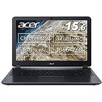 Acer ノートパソコン Chromebook N3060 15.6型 タッチ機能なし 日本語キーボード Celeron N3060 4GB eMMC 32GB 約12時間駆動 【日本正規代理店品】 CB3-532-F14N グラナイトグレイ