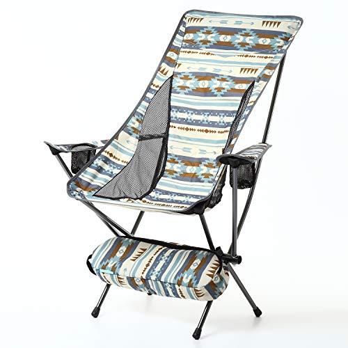 アウトドアチェア コンパクトチェア 軽量チェア アウトドア 軽量 折りたたみ椅子 耐過重150kg キャンプ用品 1.7kg キャンプ 釣り 椅子 イス レジャー 運動会 チェア 折り畳み椅子 グランピング おしゃれ ナバホ 折りたたみ (ブルー/ナバホ)