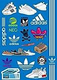 アディダス IPS Club アディダス オリジナル ステッカー Adidas A4サイズ 19枚入 簡易防水加工 子供 Adidas Original