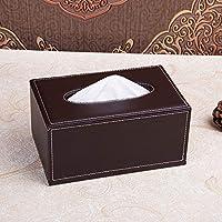 JJD 革ティッシュボックス、ヨーロッパの本箱、居間のホームナプキン、クリエイティブカーの本箱 (Color : F, サイズ : One Size)