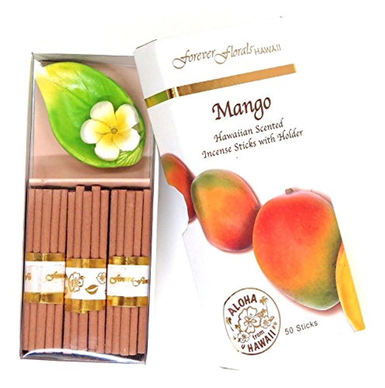 パーティー民族主義そばにハワイアン雑貨 ハワイ雑貨/Forever Florals ミニインセンスボックス お香 マンゴー 【お土産】