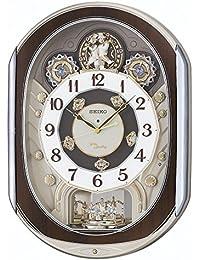 セイコー クロック 掛け時計 電波 アナログ からくり 40曲 メロディ 回転飾り 薄金色 パール RE578B SEIKO