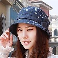 Chuiqingwang キャップ帽子女性の春と夏のファッションキャップ流域キャップ漁師帽子バイザー高齢者キャップマザーキャップ (Color : The blue, サイズ : M)