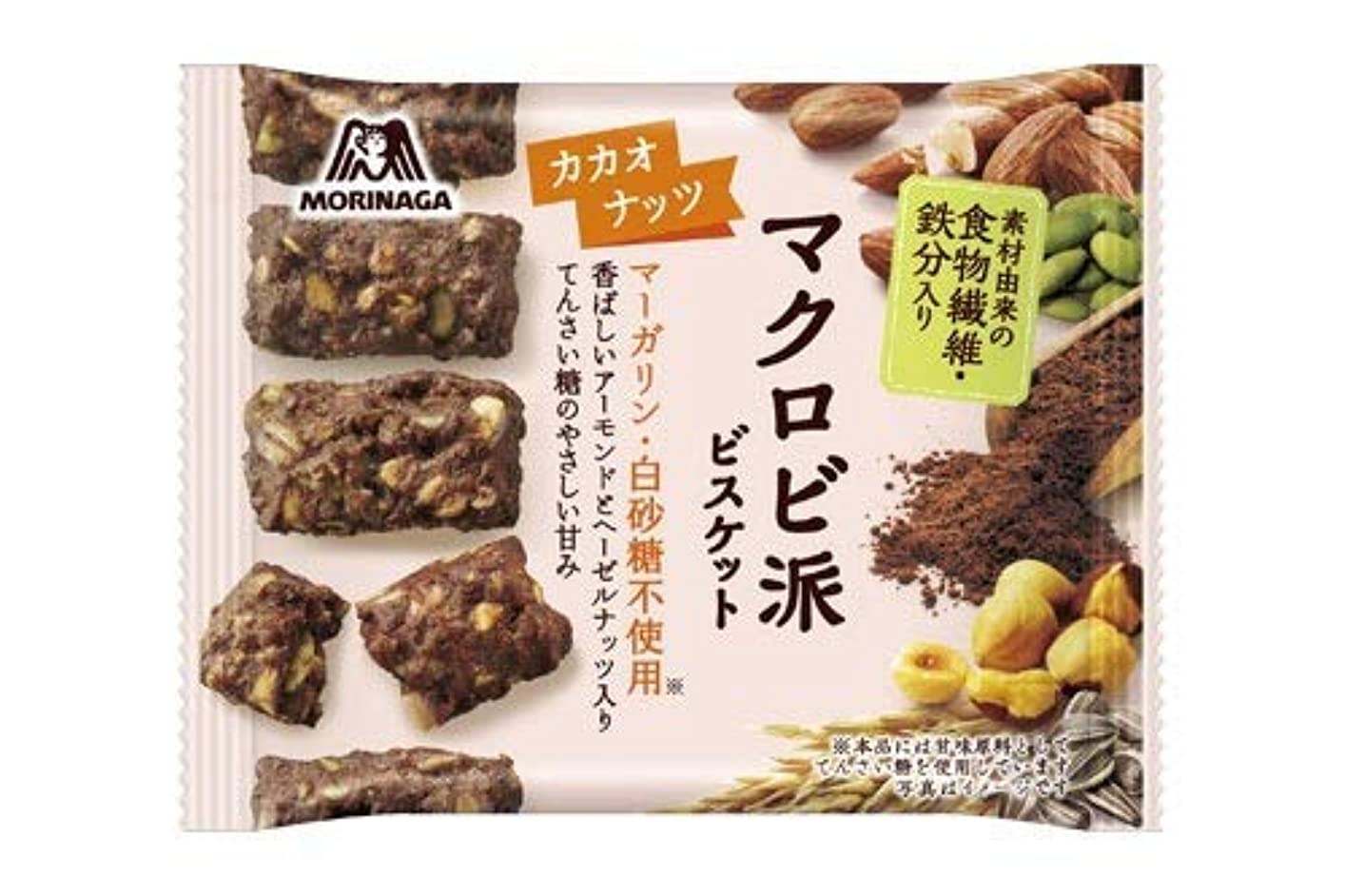 同一性木曜日九時四十五分森永製菓 マクロビ派ビスケット カカオナッツ 24個セット