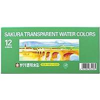サクラクレパス 絵の具 透明水彩 12色セット OW12
