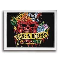 Guns N' Roses ガンズ アンド ローゼズ フレーム装飾画 背景絵画 背景絵画 ソファの背景絵画 インテリア 美術室 壁アート 枠付き 木製 お洒落 サプライズ (サイズ30*40cm)