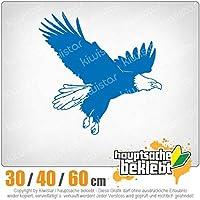 KIWISTAR - Eagle profile - flight - Hawk - Western 15色 - ネオン+クロム! ステッカービニールオートバイ