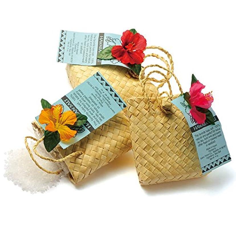 まもなくグレー好意ハワイ 土産 ハワイ ソルトバッグ入り 3袋セット (海外旅行 ハワイ お土産)