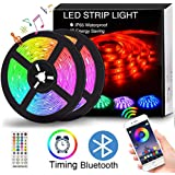 LED Strip Lights Music Sync, Color Changing LED Strips, 16.4ft SMD 5050 LED Rope Light, App&Remote Controlled, Tape Light for Bedroom, Home and Kitchen
